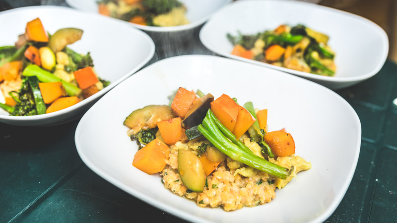 risotto verdure cena surf camp